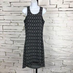 41 Hawthorn Sleeveless Black High Low Dress 1930